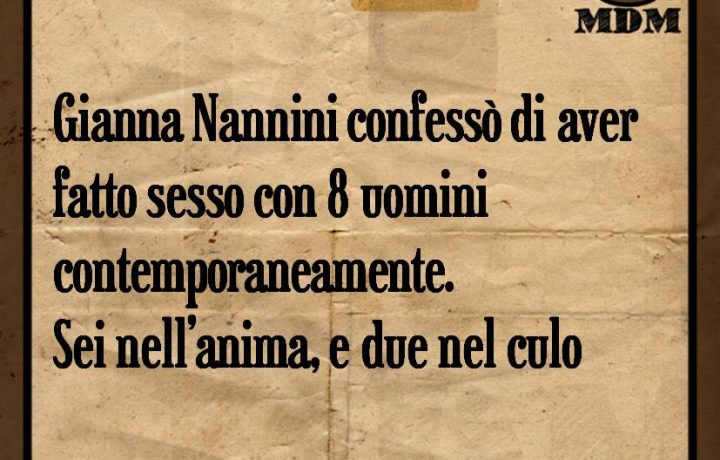 Gianna Nannini confessò di aver fatto sesso con 8 uomini contemporaneamente. Sei nell'anima e due nel culo.