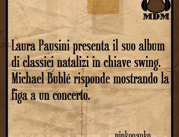 Laura Pausini presenta il suo album di classici natalizi in chiave swing.