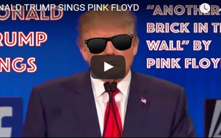 Donald Trump canta i Pink Floyd