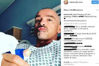 Eros Ramazzotti in ospedale. Gli hanno tolto 6 kg di adenoidi.